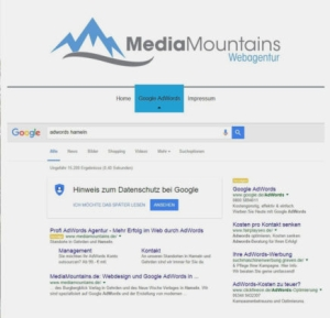 Google AdWords MediaMountains