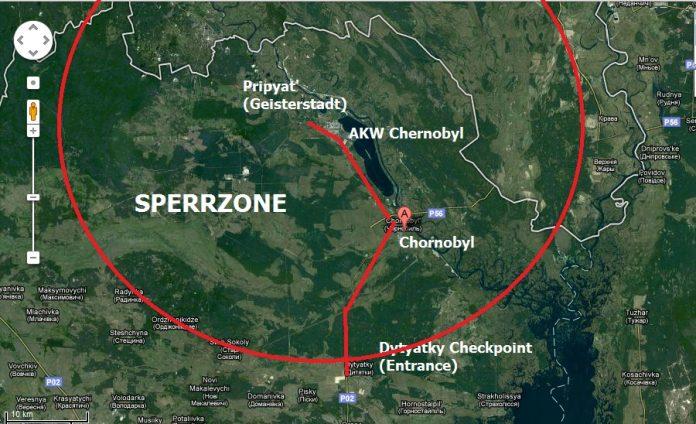 Tschernobyl Karte.30 Jahrestag Des Reaktor Gaus In Tschernobyl
