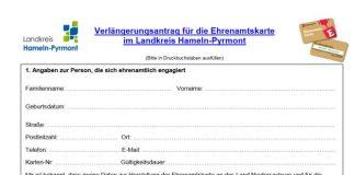 Ehrenamtskarte - Hameln-Pyrmont - neueWocheEhrenamtskarte - Hameln-Pyrmont - neueWoche