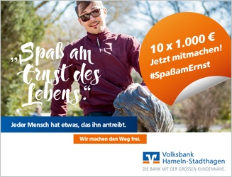 Volksbank Hameln-Stadthagen - Spaß am Ernst des Lebens
