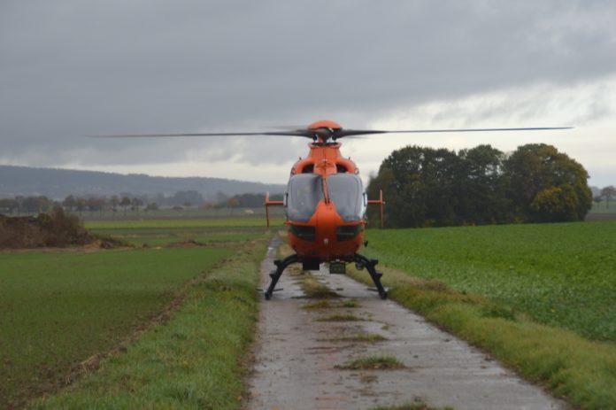 Blaulicht Hubschrauber Rettungshubschrauber