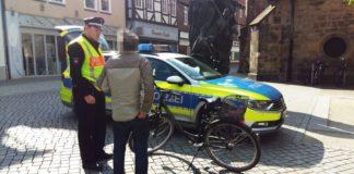 Polizei Fahrradfahrer Kontrolle