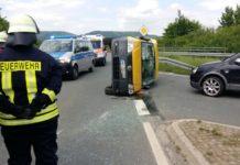 Unfall Feuerwehr B83 Hessisch Oldendorf