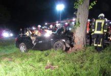 Unfall - Baum - Schwerverletzter