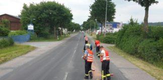 Ölspur - Feuerwehr Lügde