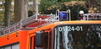 Feuerwehrauto nah
