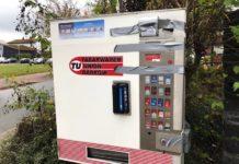 aufgebrochener Zigarettenautomat