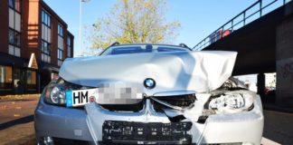 zerstörter BMW - Fahrerflucht Brückenkopf