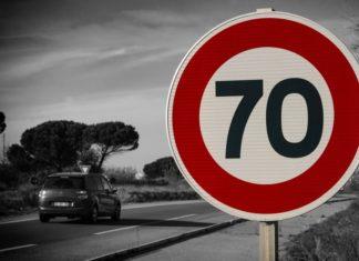 Tempo 70 -Schild