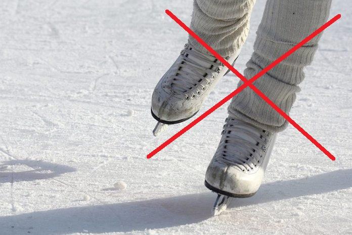 Schlittschuhe_Eislaufen verboten
