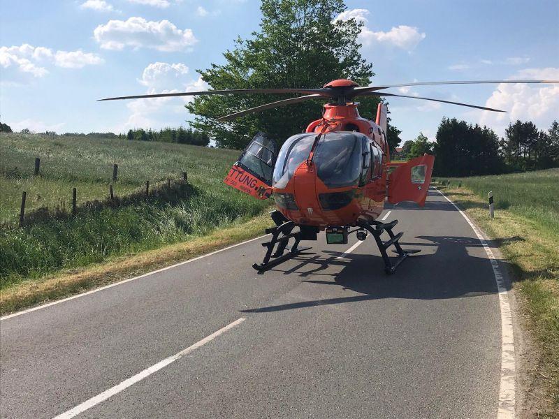 Hubschrauber in Aerzen