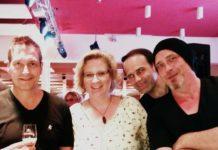 Aline Lerch (Mitte) mit Dieter Nuhr und Torsten Sträter. Foto: privat