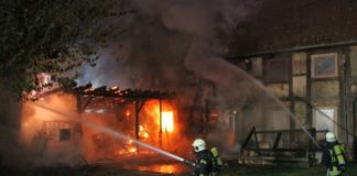 Feuer in Bad Münder_Petersilienstraße_©Kreisfeuerwehr Hameln-Pyrmont