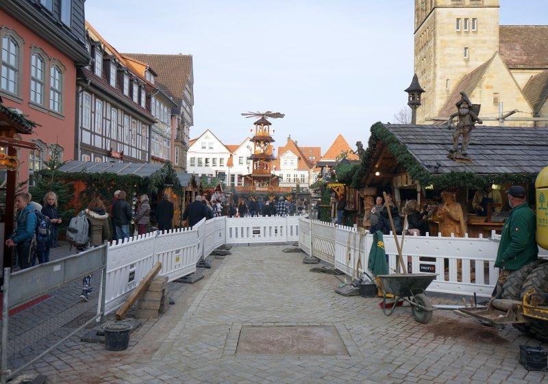 Weihnachtsmarkt_Hameln_2018_Baustelle