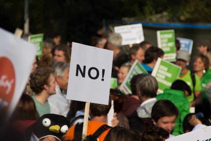 Demonstraition Klimawandel NO
