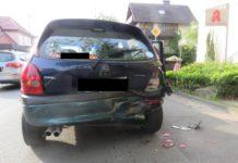Beschädigter Opel Corsa_Polizei