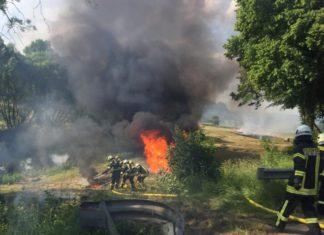 Feuer_Feuerwehr_Lügde