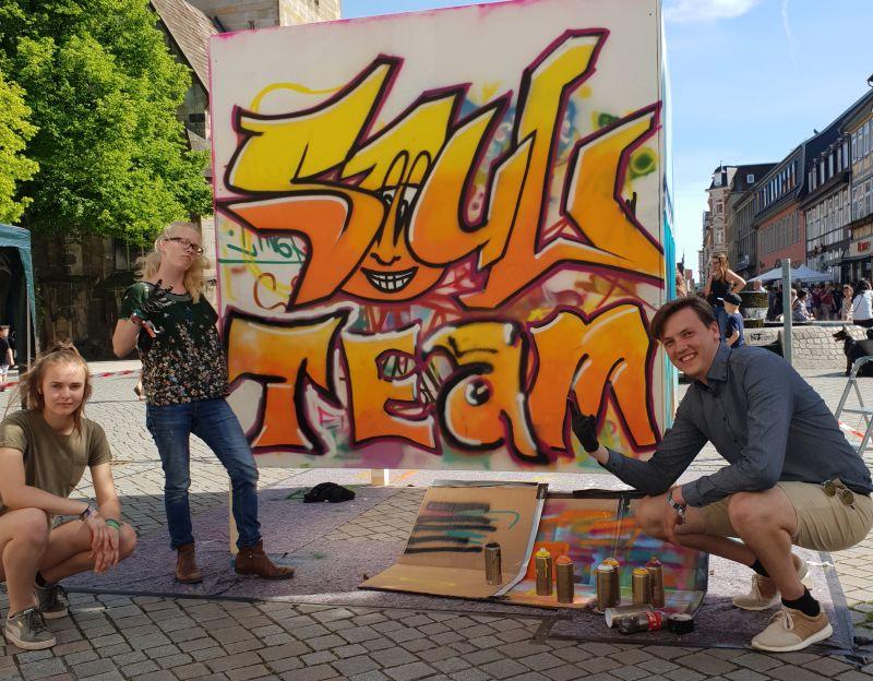 Graffitiwände - Pferdemarkt