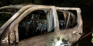Nissan Feuer abgefackelt