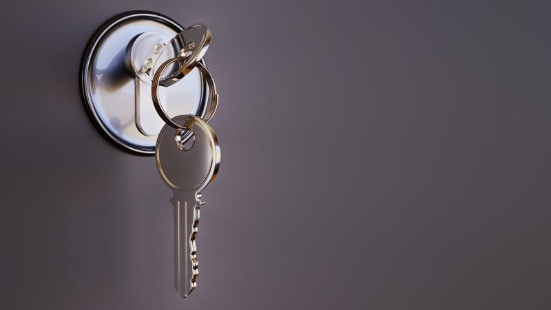 Geschlossen Schloss Schlüssel