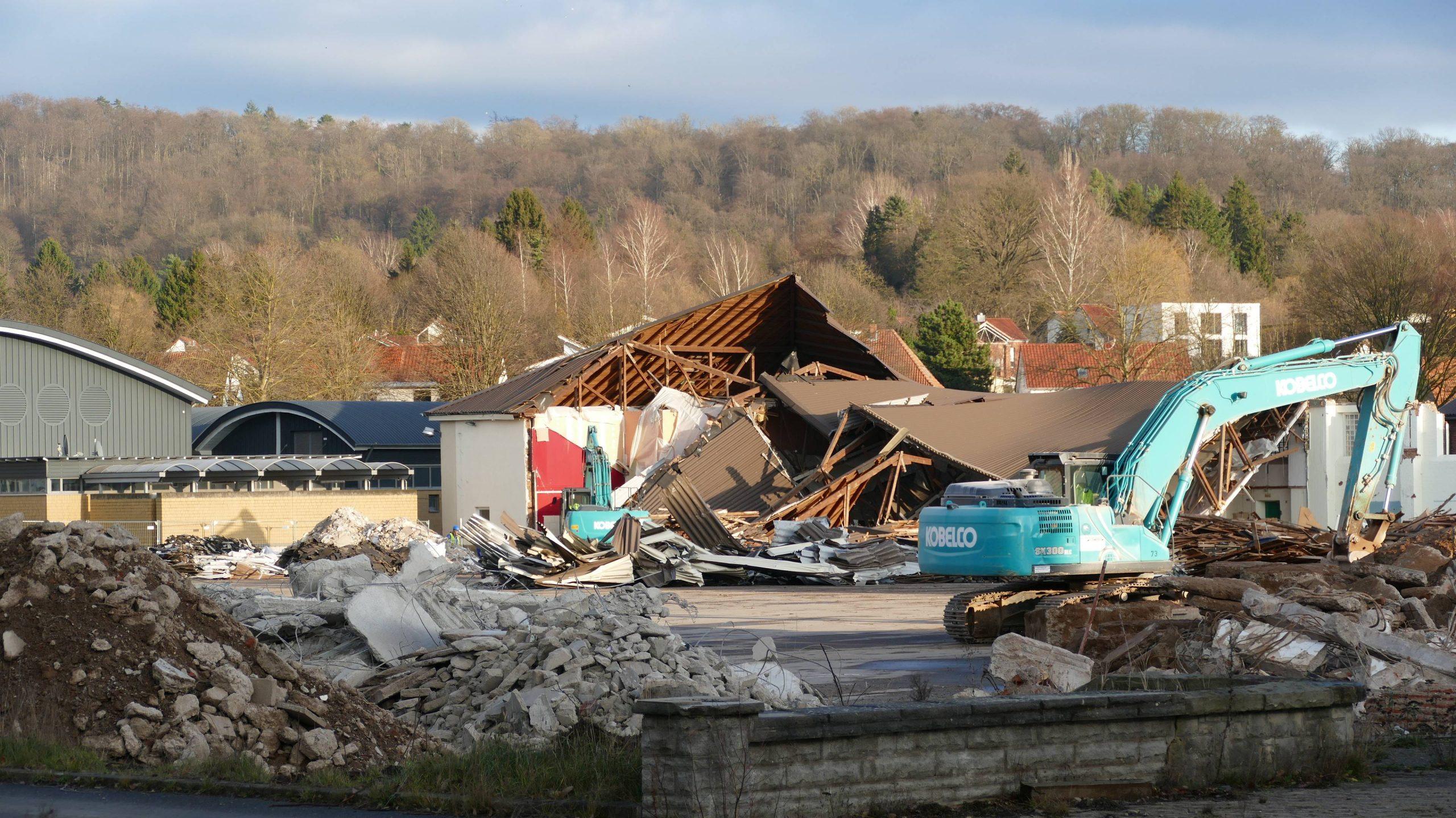 Das alte Kino wird abgerissen