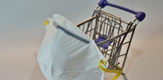 Mund- und Nasenschutz beim Einkaufen